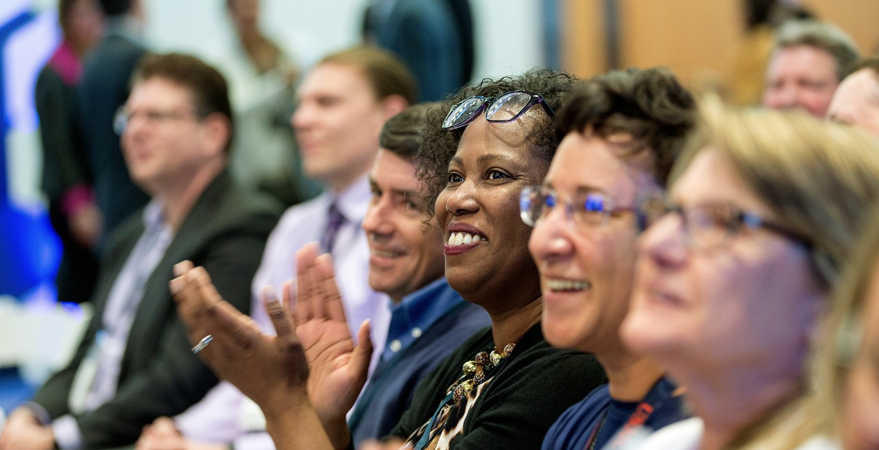 Images of employees attending April 26, 2018 Innovation Forum at Optum headquarters in Minnesota.